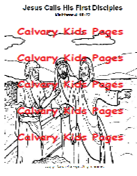 coloring pages jesus calls disciples | Coloring Pages For Kids ... | 253x197